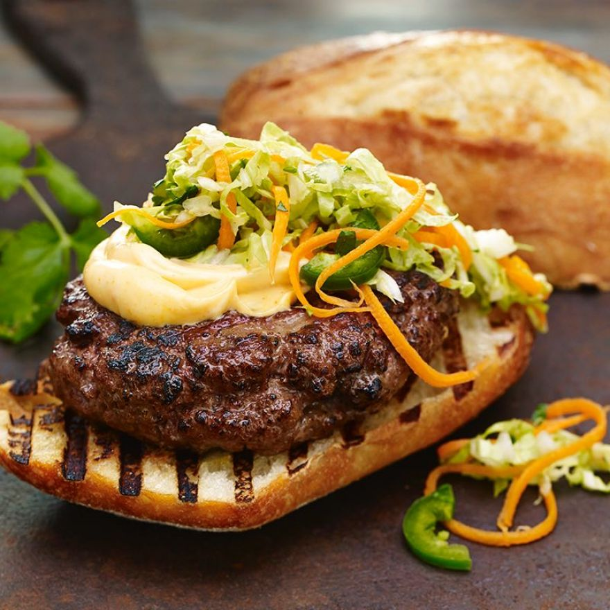 Spice Up the Grill With These Banh Mi Burgers